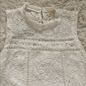 Hollister white lace dress